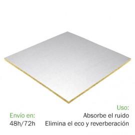 Techo FON-ACUSTIC Acero (0,6 x 0,6 x 0,02 m) Techos Fonoabsorbentes
