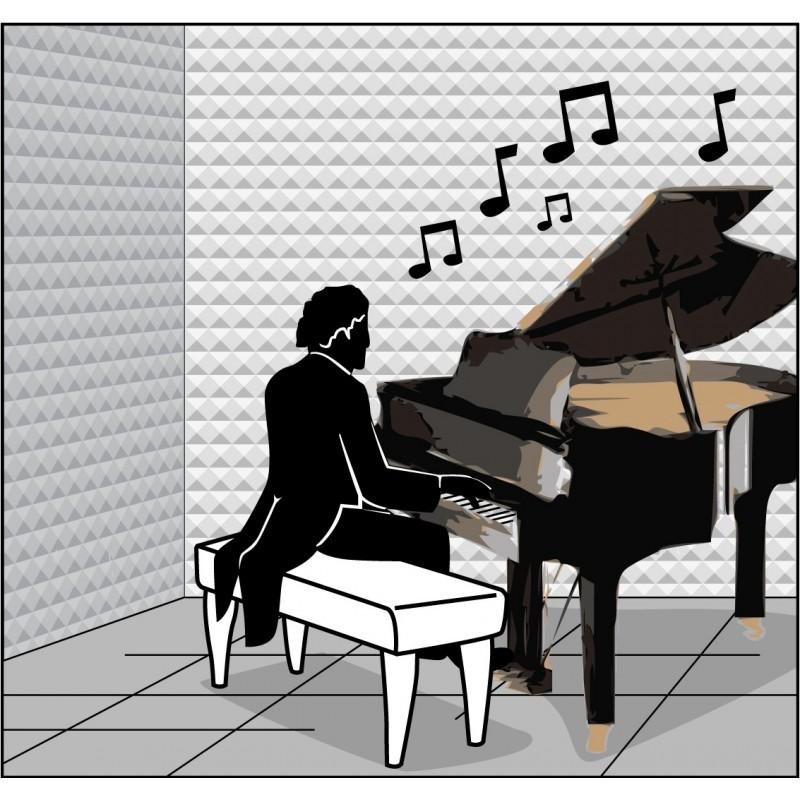 Absorbente acustico estudio grabacion piramid - Insonorizar estudio ...