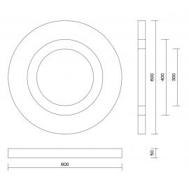 Absorbente Acústico decorativo redondo Cirkel Absorbentes de medios y agudos