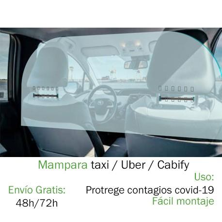 Mampara Taxi Uber Cabify VTC Coronavirus