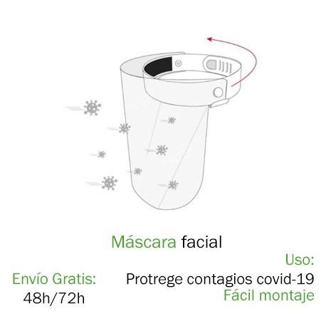 Mascarilla facial sujeción cabeza