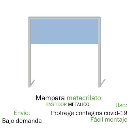 Mampara Metacrilato Antivirus metálica Mampara Coronavirus / Covid-19