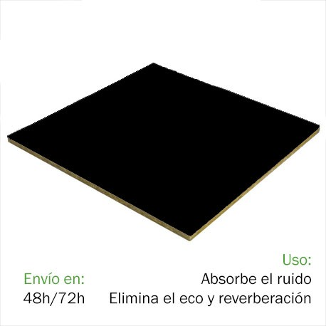 Techo FON-ACUSTIC 1200 Negro (1,2 x 0,6 x 0,02 m)