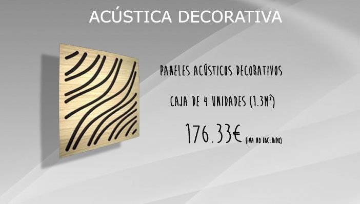 Paneles acústicos decorativos